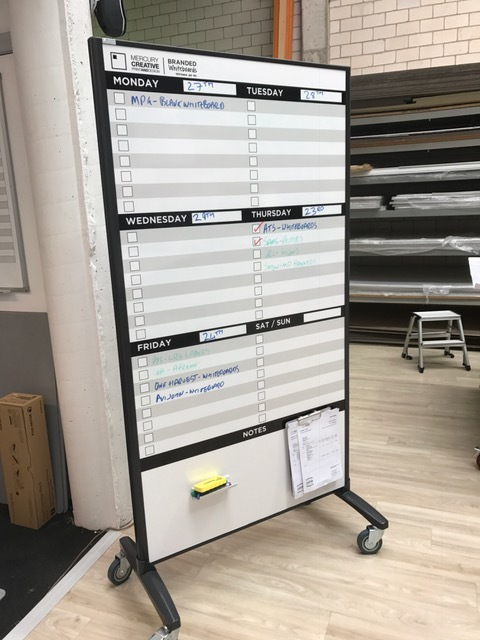 Production Board - Veritcal Mobile Whiteboard