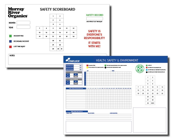 Murray River Organics and Stair Lock Safety Record boards
