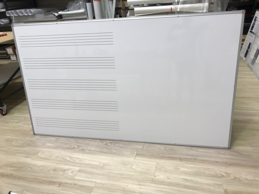 Music Stave Whiteboard