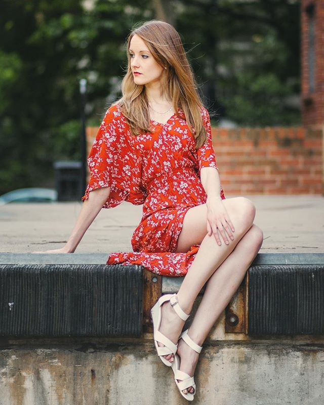 Love this shoot! props to @model.clarefran for calling out this location  #model #fashion #dc #pose #summer #beautiful #mood #DMV #charm #dress #shoes #elegance
