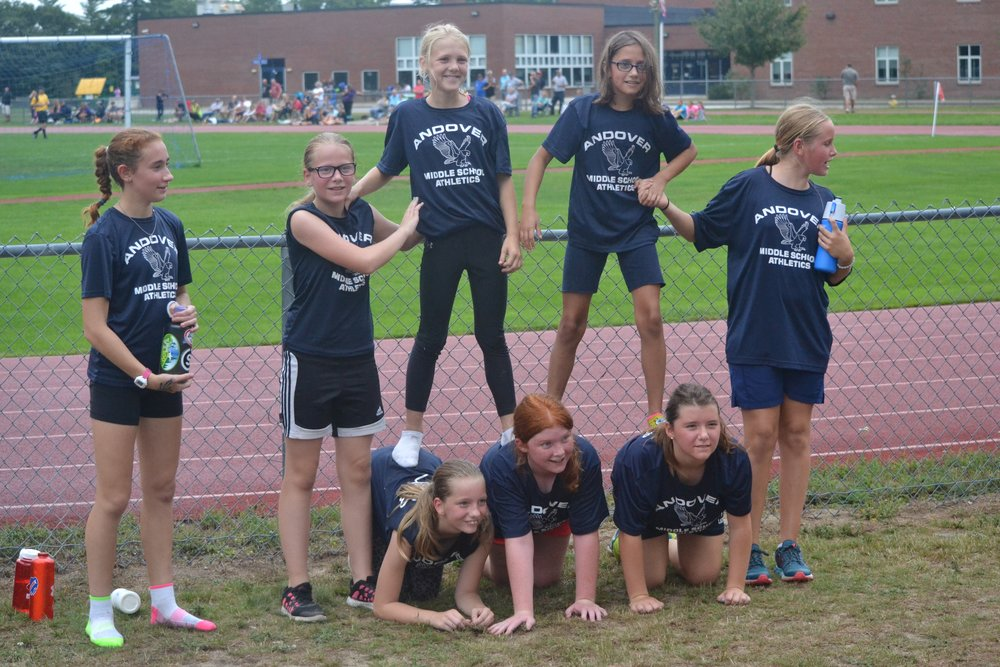 Andover girls (and some future MV runners?) showing spirit!