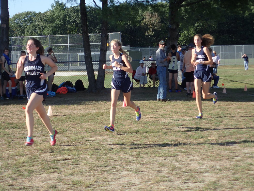 Lauren, Noelle, and Emma in the order of finish.