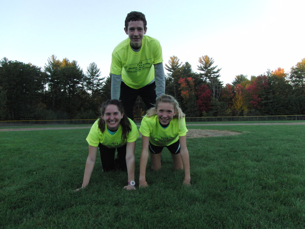 We Only Had Three T-Shirt Winners, But They Makes A Nice Pyramid!