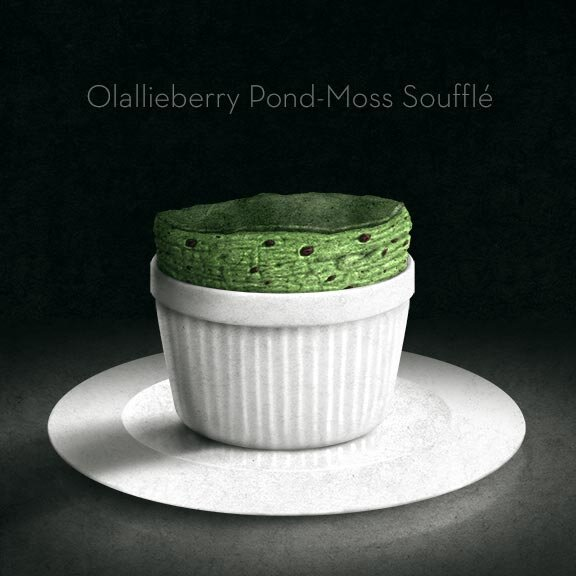 Lahlaberry and Pond-Moss Soufflé