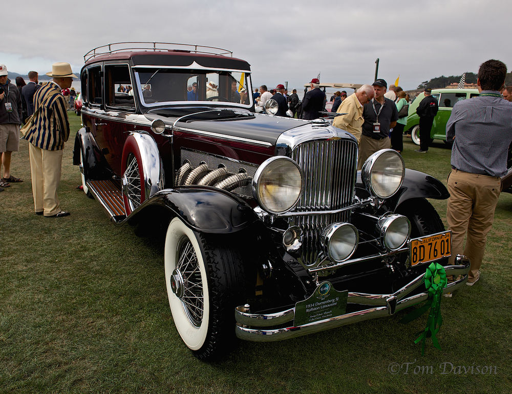 "Tom wrote, ""The Duesenberg was the largest and most expensive auto ever produced in America. Probably the origin of the slang phrase, ""It's a Doosy!"". Note the stylized bird radiator emblem."""