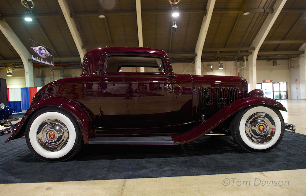 1932 Ford, three window coupe, built as a 1950s style hot rod.