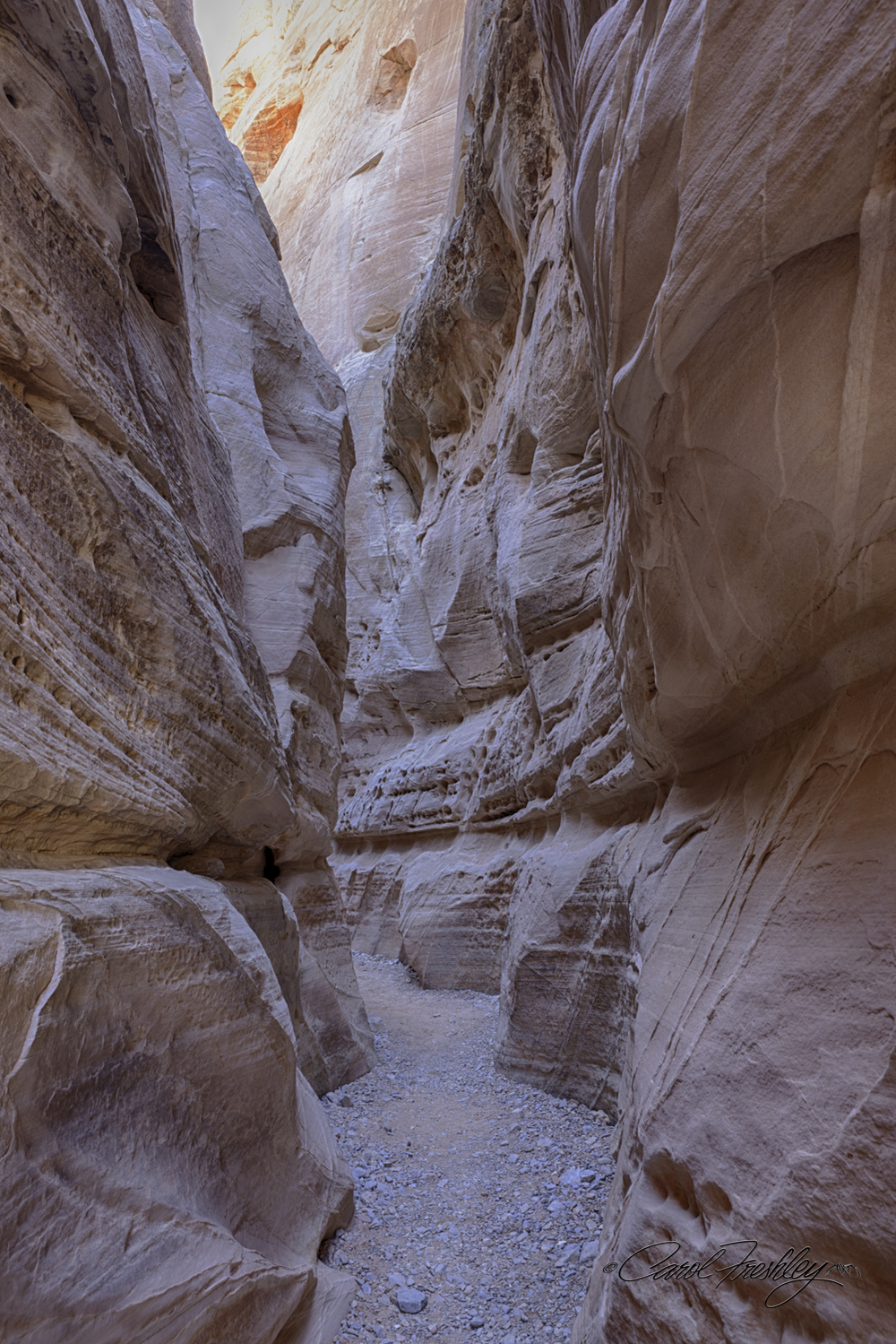This was the only area where I found what I would call a true slot canyon.  It was short and not as colorful and interesting as Antelope Canyon.