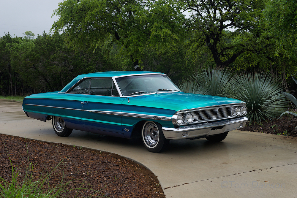 This is Jerry's 1864 Ford Galaxie.  Jerry just recently completed its restoration.  It was a hit at the show.