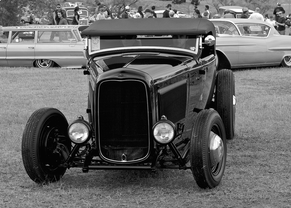 Tom said I made a good guess.  A 1932 Ford with a chopped top.  I think it has an attitude!