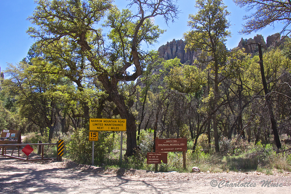 Parking area for the South Fork trailhead.