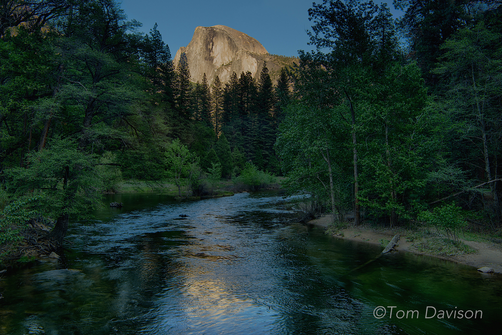 Half Dome at sunset.  Taken from Sentinel Bridge.