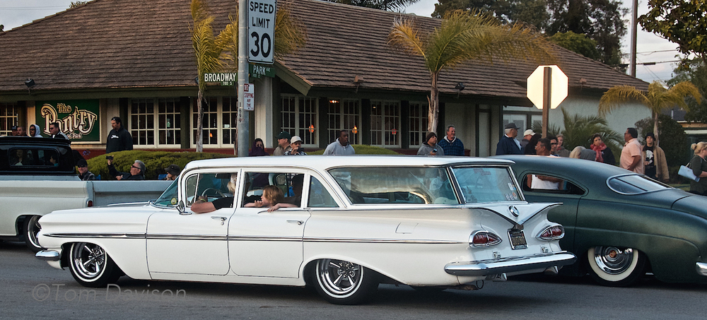 1959 Chevrolet Station Wagon.  It was a family car in the fifties and appears to still be a family car.