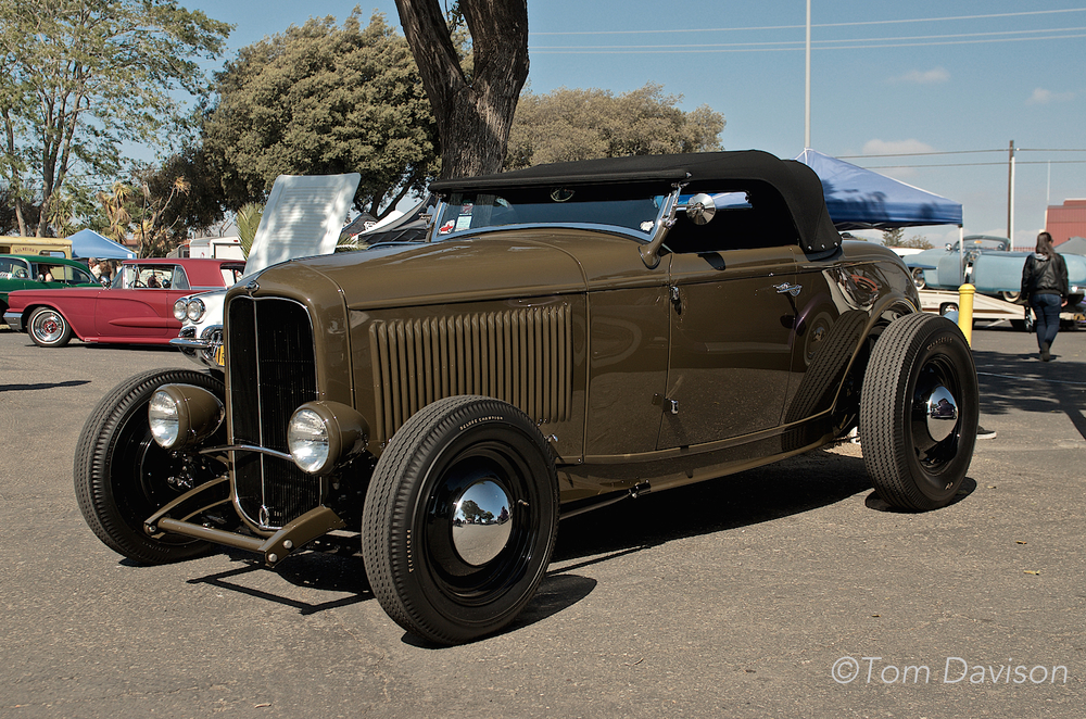 Classic 1932 Ford Deuce Roadster.