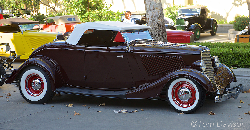 A 1934 Ford Roadster (my favorite of the bunch and Tom did not drive it home for me).