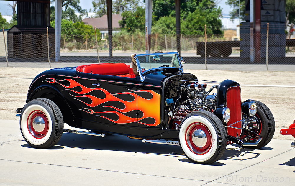 A 1932 Ford HiBoy Roadster.