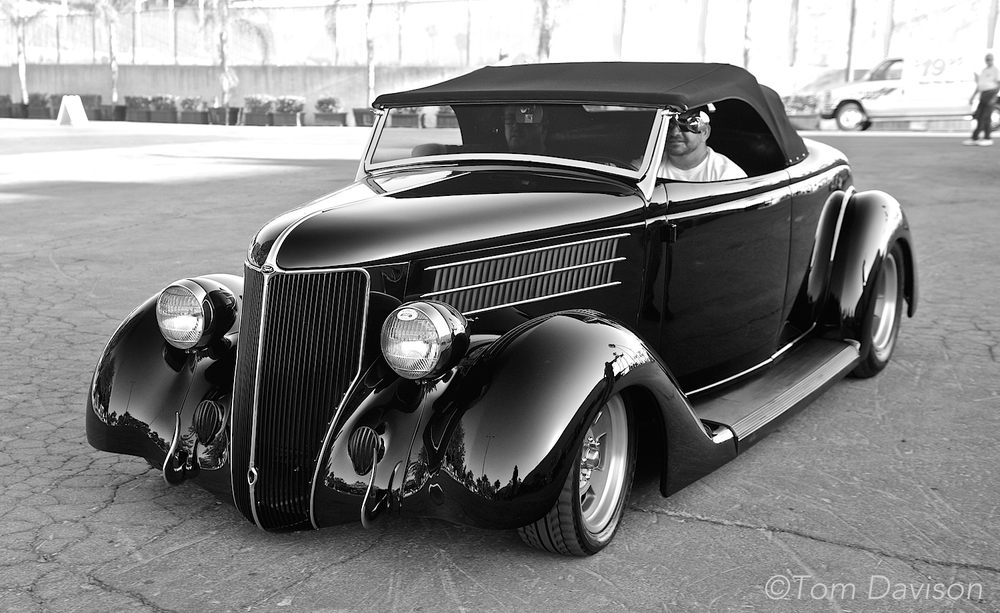 A 1936 Ford Roadster.