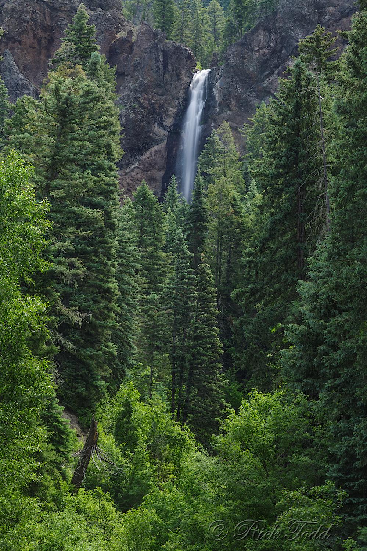 Fall Creek Falls at the base of Wolf Creek Pass.