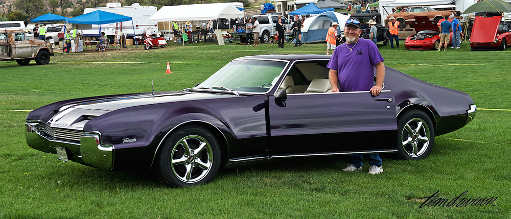 Tom asked Leland to pull his 1966 Oldsmobile Toronado out of its row for a series of quick shots. It was the first American production front wheel drive model.