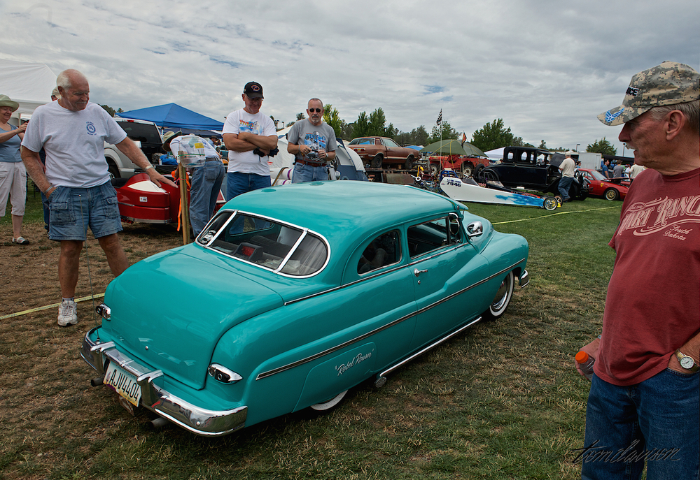One of the most amazing cars there was this 5/8-scale, drivable, hand-built replica of a 1949 Mercury.