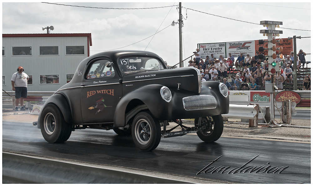1941 Willys.  Makes me smile.  Such effort to burn a bit of rubber.
