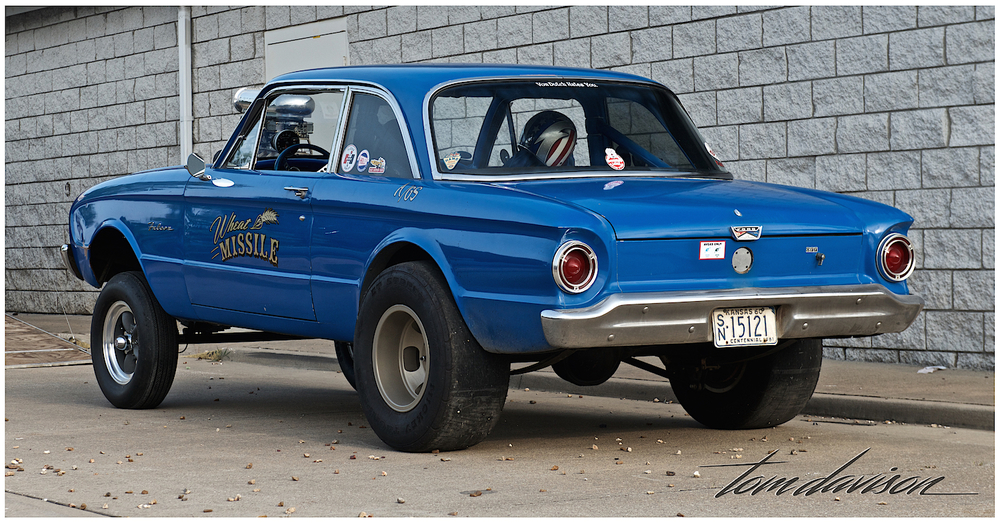 "A 1963 Ford Falcon done in a period 1960's ""gasser"" style."