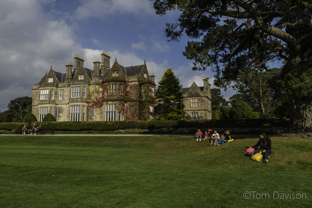Sometime Sunday we stopped at the Muckross House.  Lovely and crowded with families enjoying a pleasant fall day.  This house faces a beautiful lake.