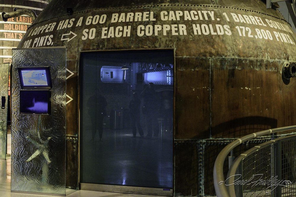 The seven story venue is highly interactive with examples of Irish grown barley, hops and pieces of machinery to illustrate how complex brewing beer is . . . and of course how good Guinness beer is!