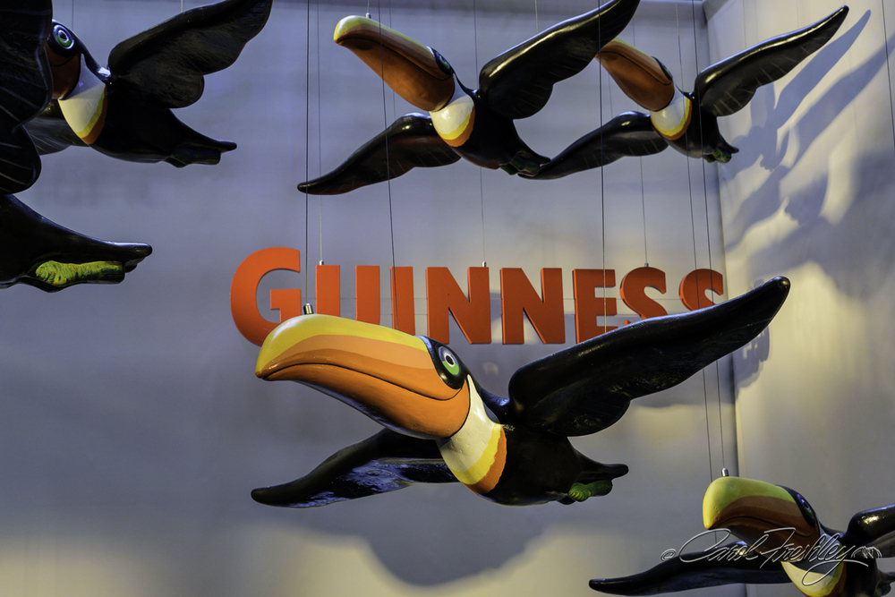 The toucan first appeared in Guinness advertising in 1935. It was dropped in the 60s.