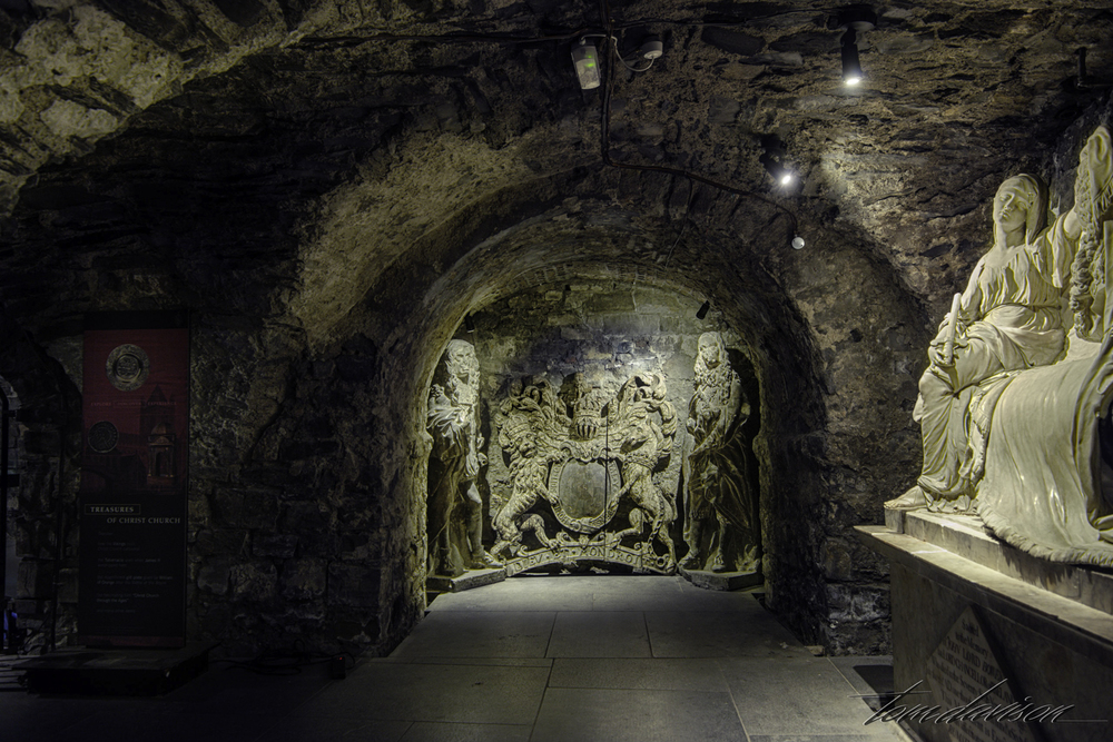 This is the crypt under ground.  It includes a gift shop, lot of art and sculpture and an occasional crypt of some important person.