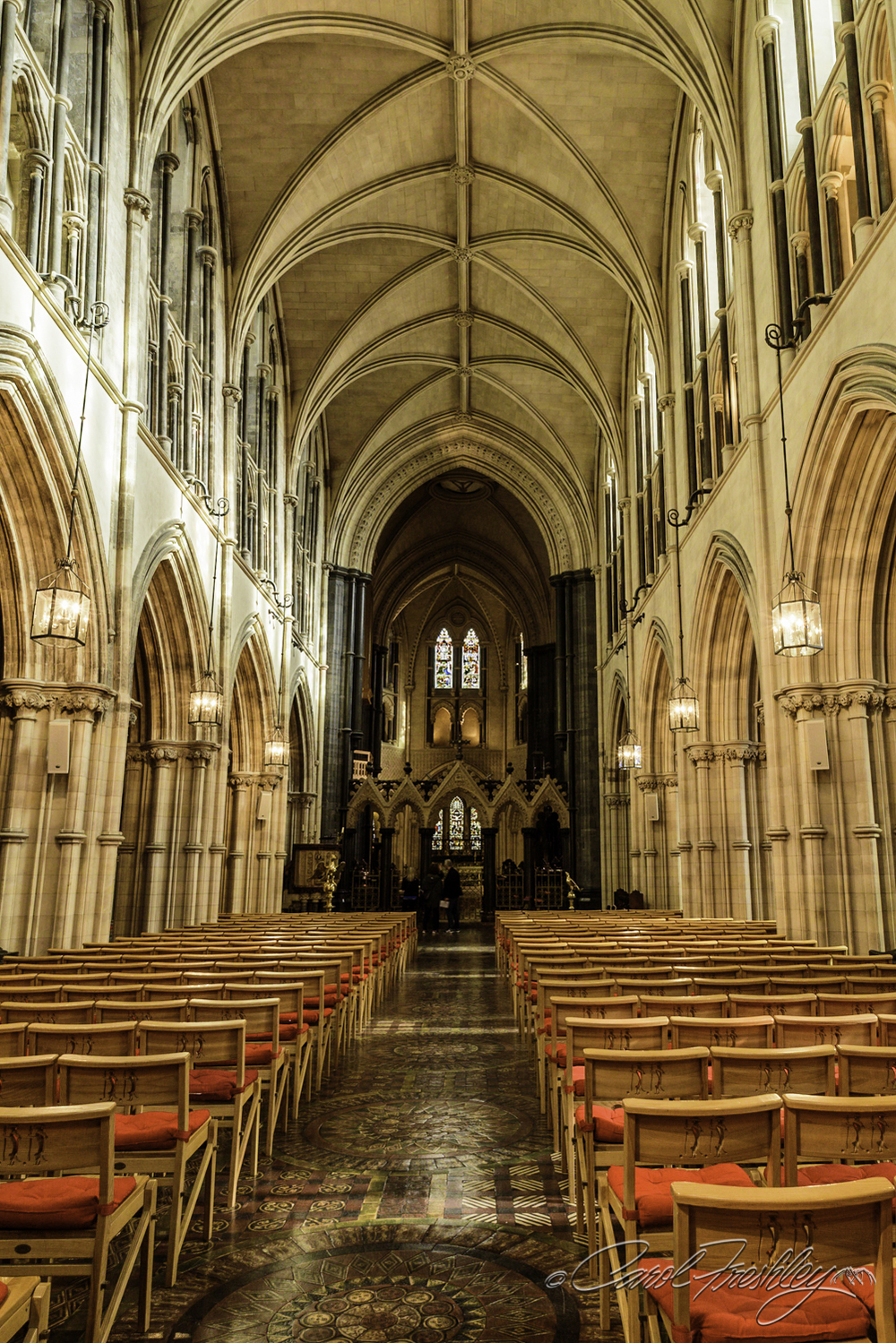 Talk about 'bright'!!  Christ Church allows photography and tripods.  A nice change for us.