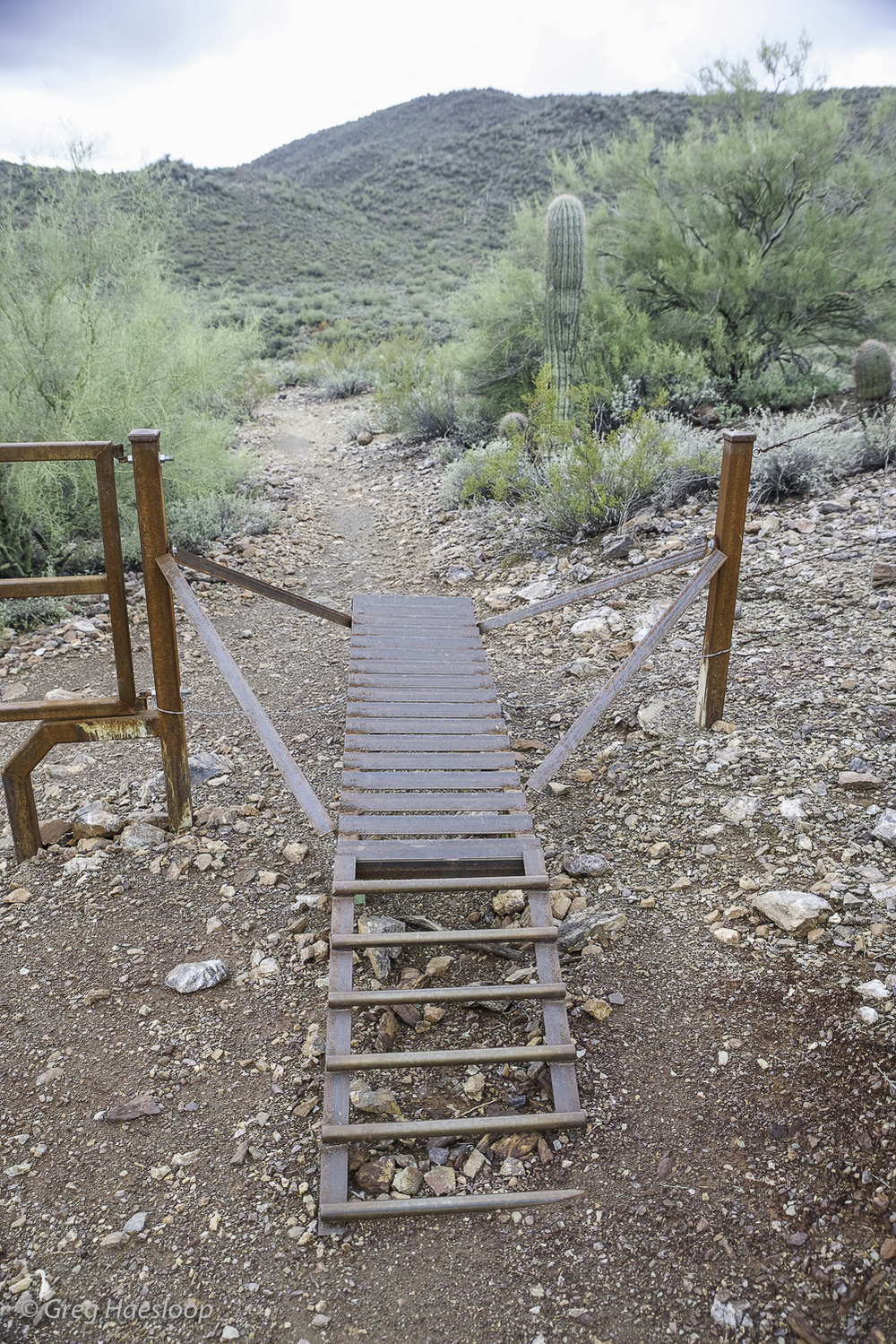 Mountain bikers can get through this gate!!
