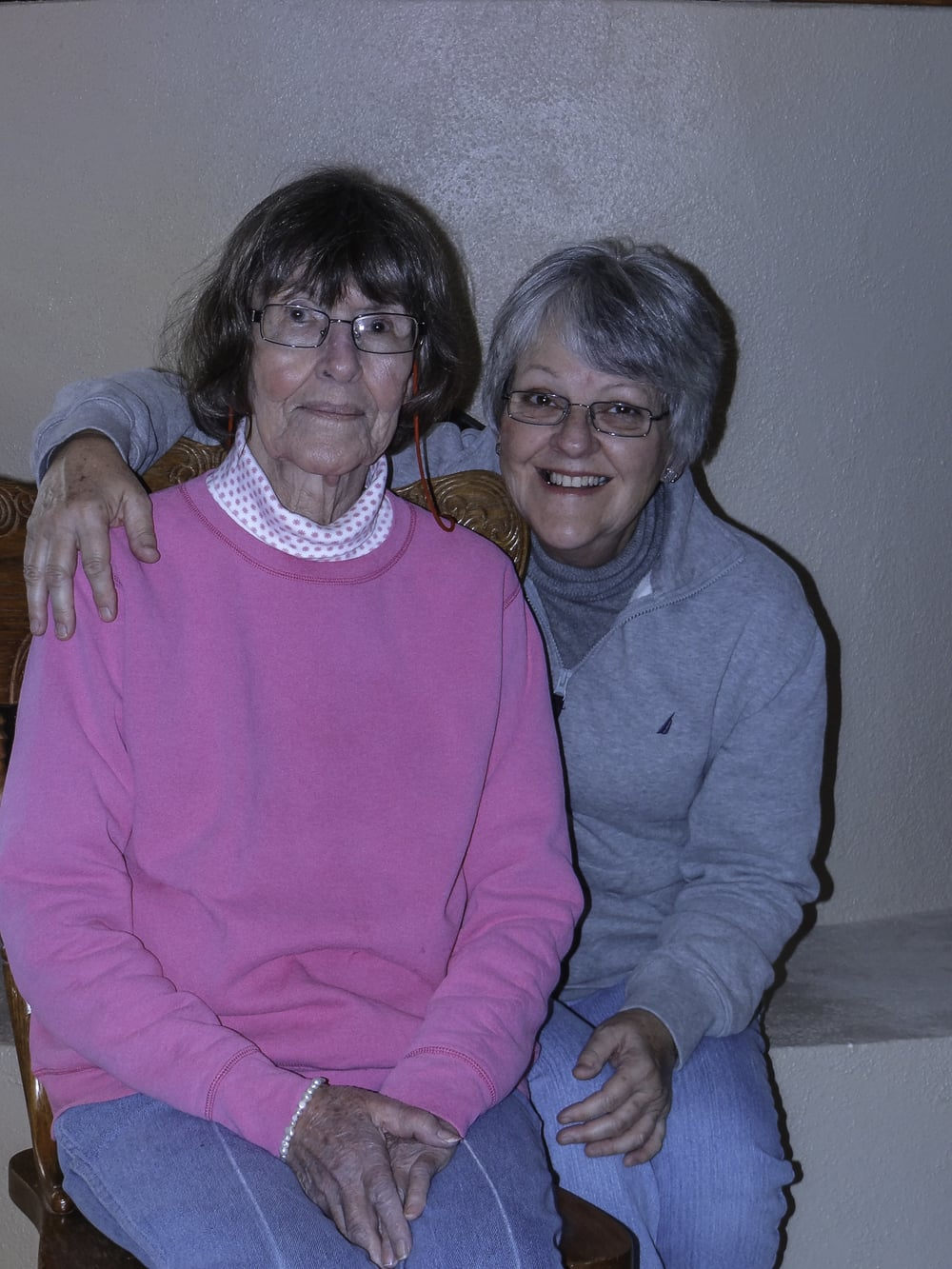 Me and mom.  Photo taken in December, 2011.  Her hair never did turn grey!!
