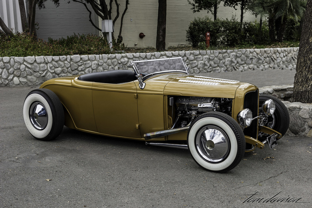Classic chopped and channeled deuce roadster
