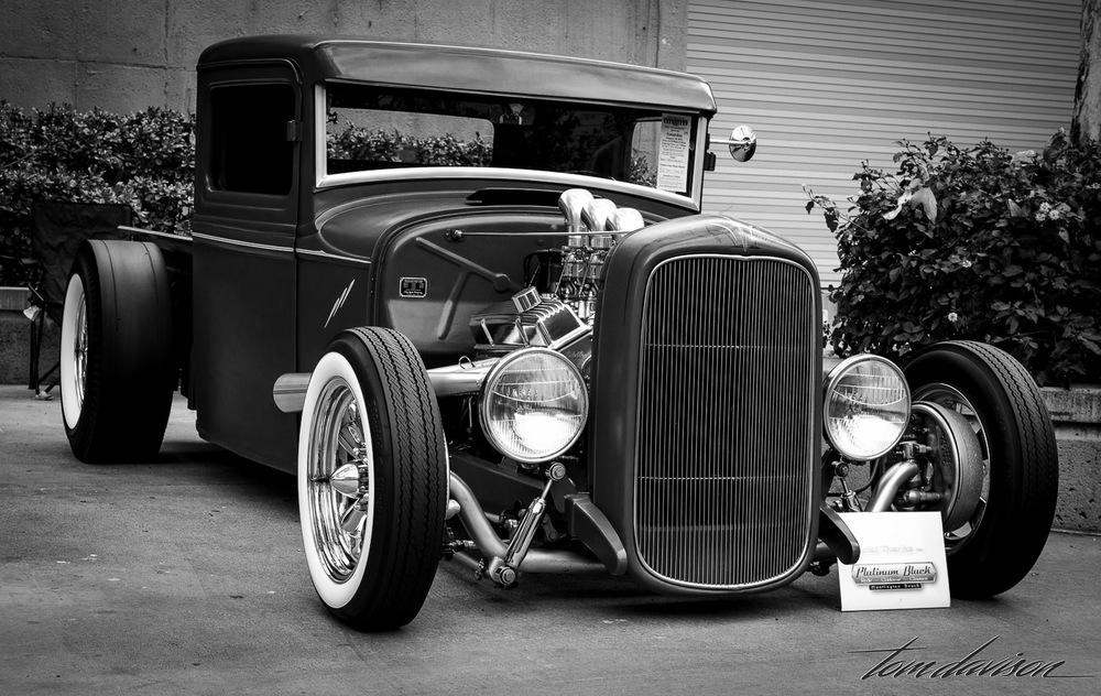 Hot rod Model A pickup