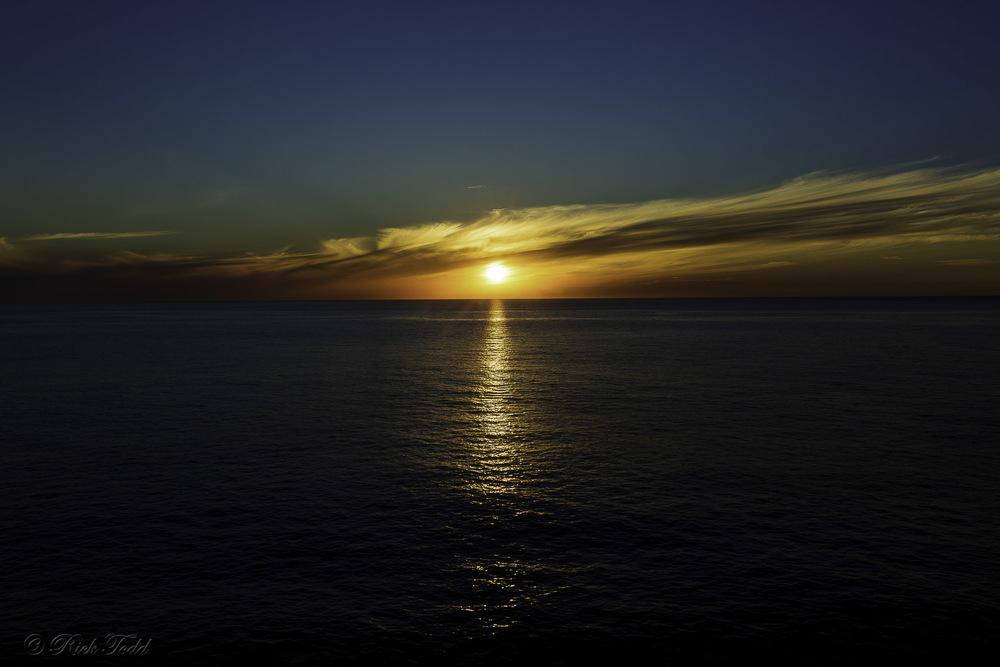 Sunset at sea. Nice!