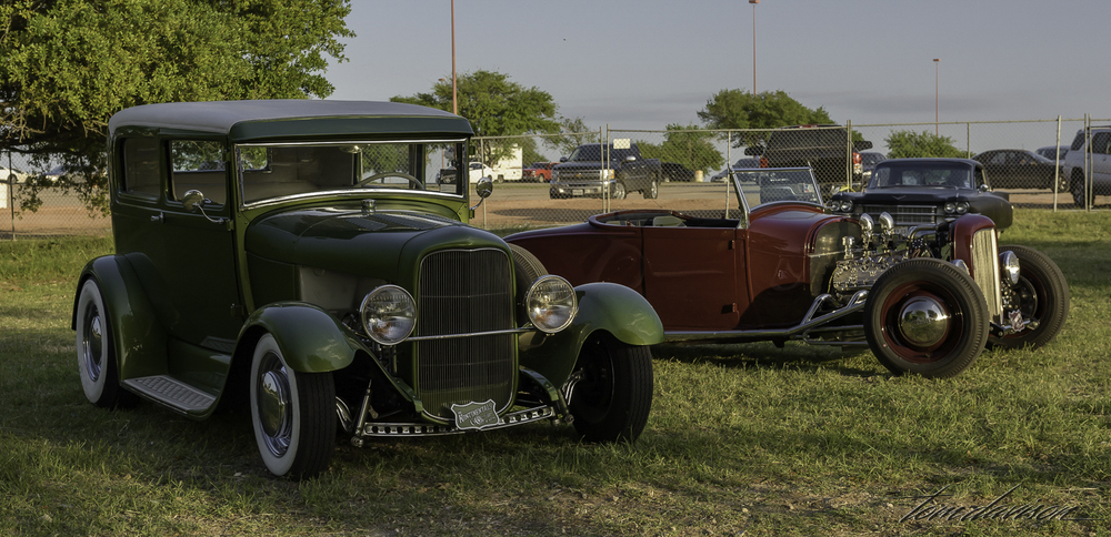 Two model A's by Tom's friend, Bryan (lives in Austin and travels coast to coast with his cars).
