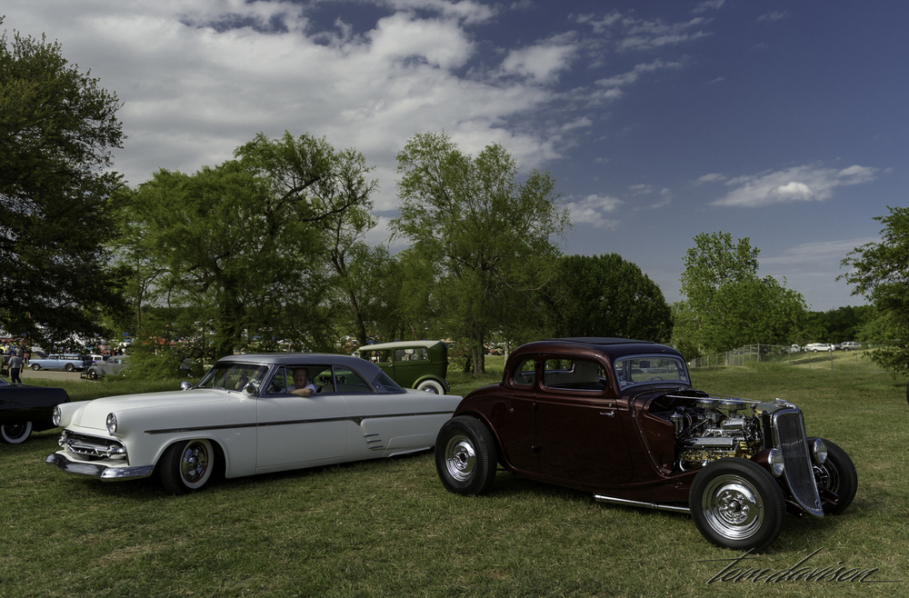 1954 Ford (left) and 1934 Ford (right).
