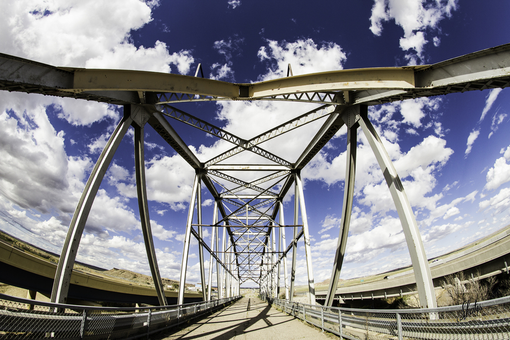 When you tire of pavement you can shoot the Rio Puerco Bridge with a really wide angle lens!