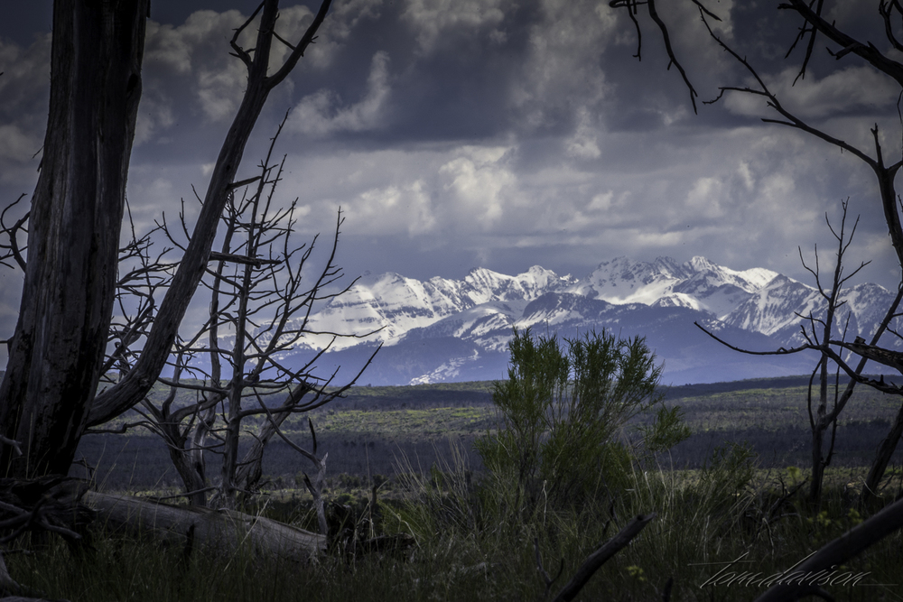 In the spring, the residents of Mesa Verde could have enjoyed great panoramas of snow capped mountains.