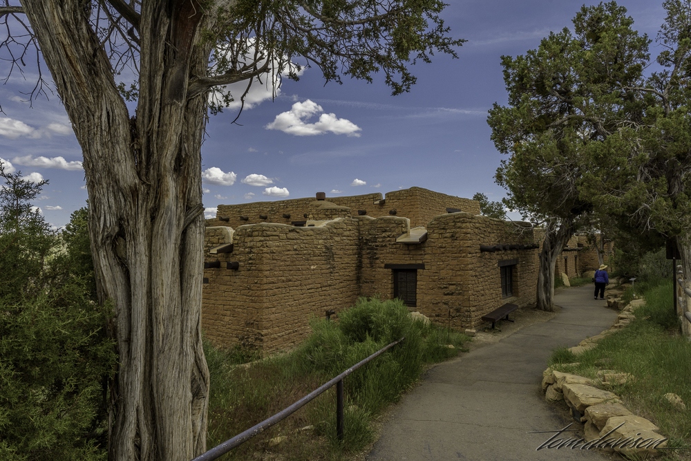 This structure houses a very interesting and informative museum.  Tom insisted that I go in and look at the dioramas that had been created to show what life was like for the Puebloans during the time period the cliff dwellings were built.  Very worth it as you can see below.