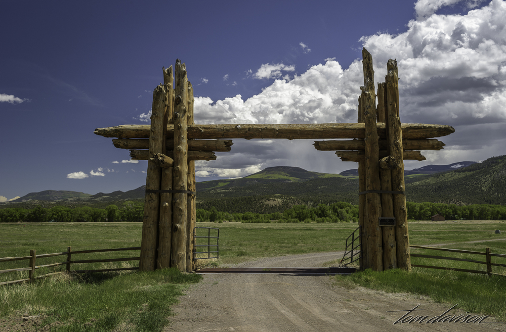 We see these ranch entrances all over the place.  They are massive.  I think this ranch is at the top of the food chain!