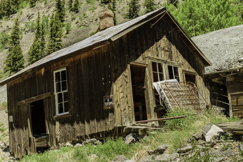 Abandoned building from an old mining camp.