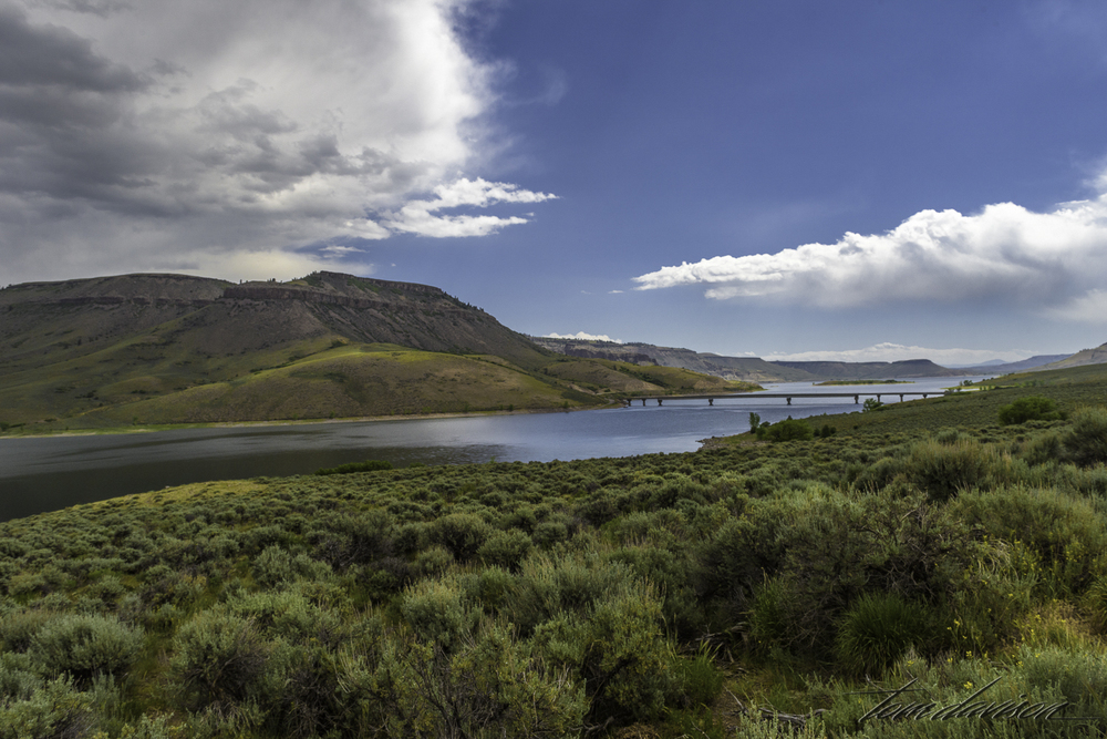 Looking east towards Gunnison.  This is the Blue Mesa Lake.