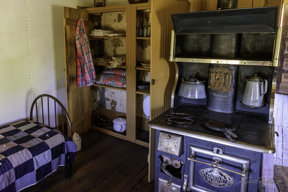 Back room or living quarters of the Forest Ranger's cabin.  A small table was just to the right.