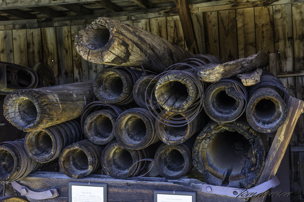 These wooden pipes were used to carry water!