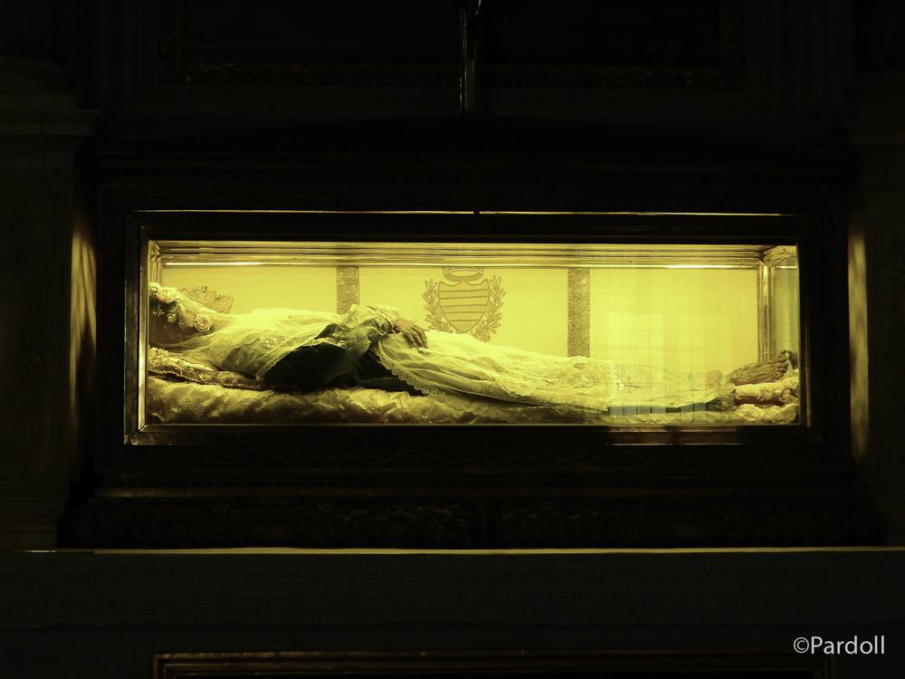 Mummified body of St. Zita