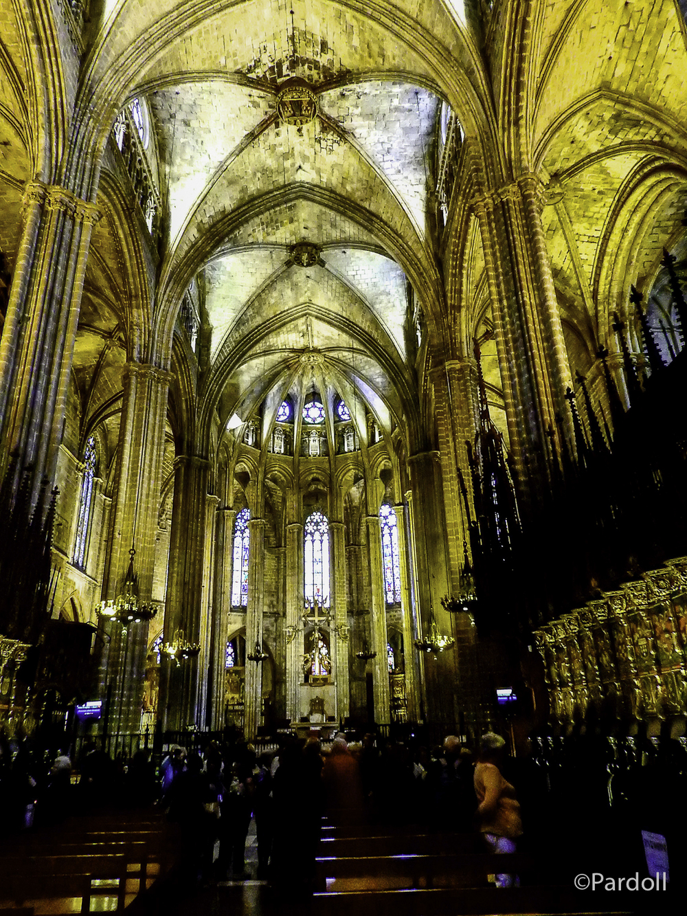 Choir looking to the altar at Barcelona Cathedral