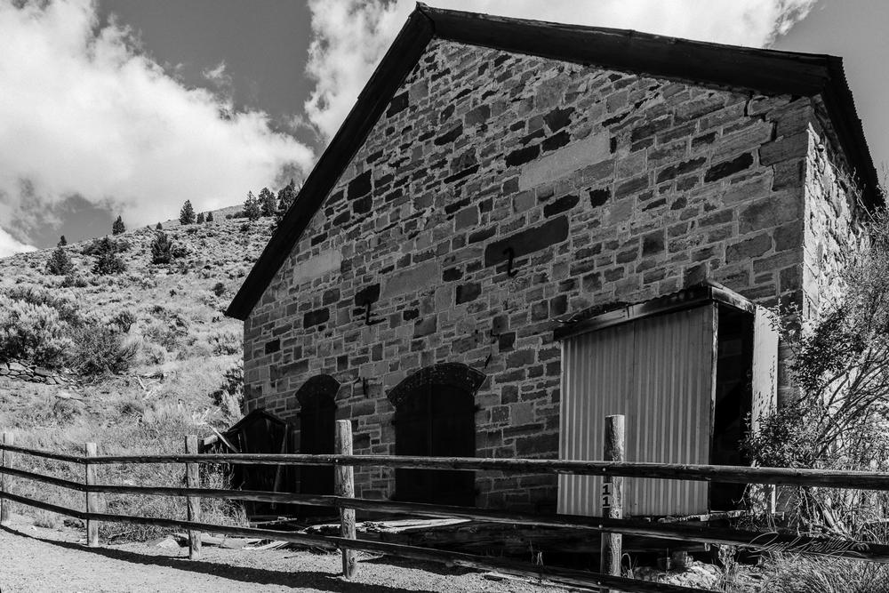Stone building.