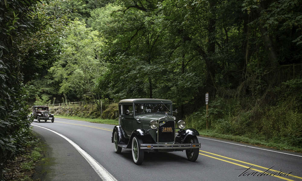 There was something very lovely about these old cars cruising down a historic highway.  There were very few other cars on the road.