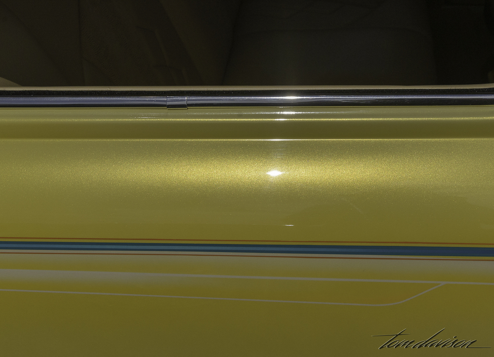Detail of 1949 Ford paint job.